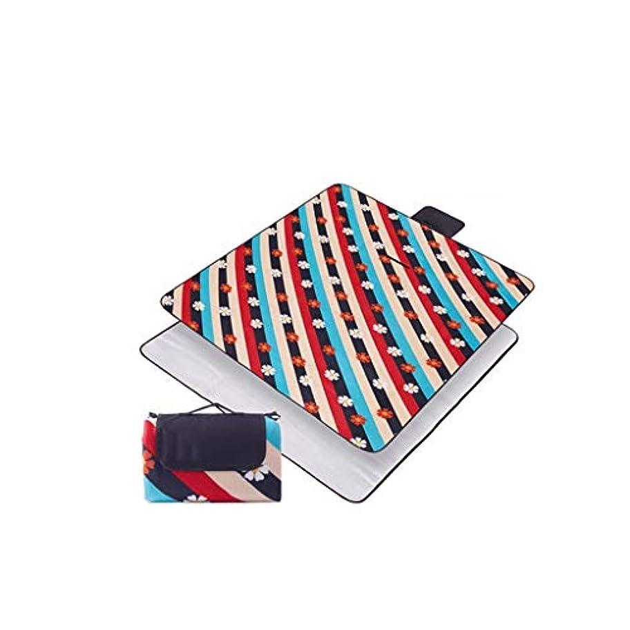 ペルメル非難動員するピクニックマット厚い防水マットポータブル屋外マット折りたたみ春の芝生マット (Color : Flower room)
