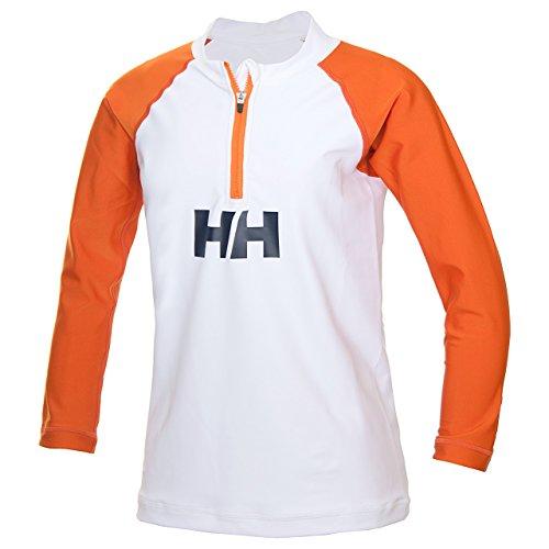 ヘリーハンセン(HELLYHANSEN)キッズL/Sハーフジップラッシュガード(KL/SHalf-zipRashguard)HJ81703WCホワイト/キャロット140