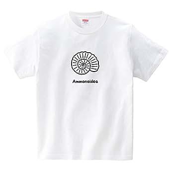 ハテナポップ アンモナイト(Tシャツ・ホワイト)(Sサイズ) (tsukamotojunko)