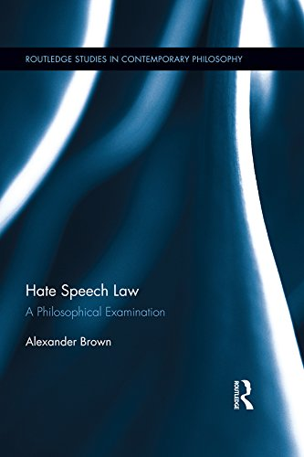 Hate Speech Law: A Philosophical Examination (Routledge Studies in Contemporary Philosophy) (English Edition)