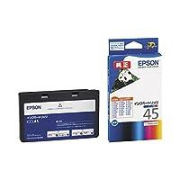 (まとめ) エプソン EPSON インクカートリッジ カラー(4色一体型) ICCL45 1個 〔×3セット〕