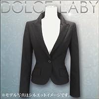 (ドルチェルビ) DOLCE LABY レディース スーツ ピークドジャケット 単品 生地:1.ブラック無地(M27205/TK) 13号(LL)着丈51 袖丈58 半胴39.5 裏地:シルバーレオパード