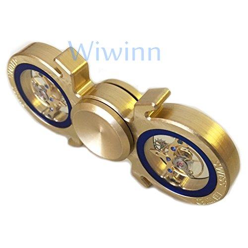 ハンドスピナー指スピナーストレス解消真鍮製高速回転超耐久HandspinnerFidgetSpinnerToyEDC子供大人に適用(ゴールデン2)