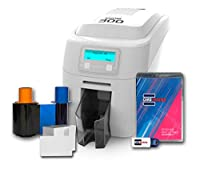 Magicard 300 Dual Sided ID Card Printer & Supplies Bundle (3300-0021)