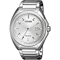 Citizen Men's Solar Powered Wrist watch, stainless steel Bracelet analog Display and Stainless Steel Strap, AW1570-87A