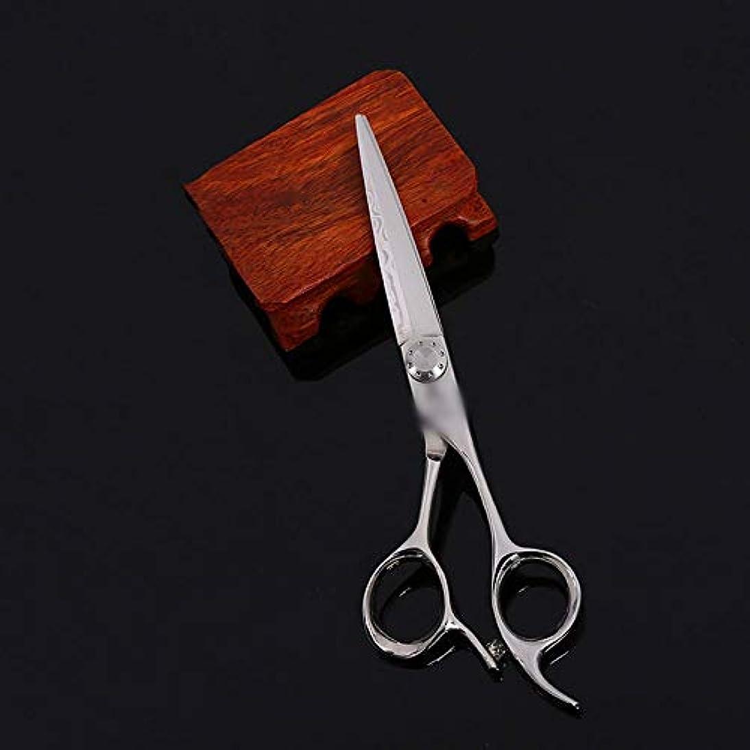 ニコチン首尾一貫したルビーGoodsok-jp 6インチの美容師プロフェッショナルハイエンド理髪はさみ、柳はさみフラットはさみ歯はさみセット (色 : Silver)