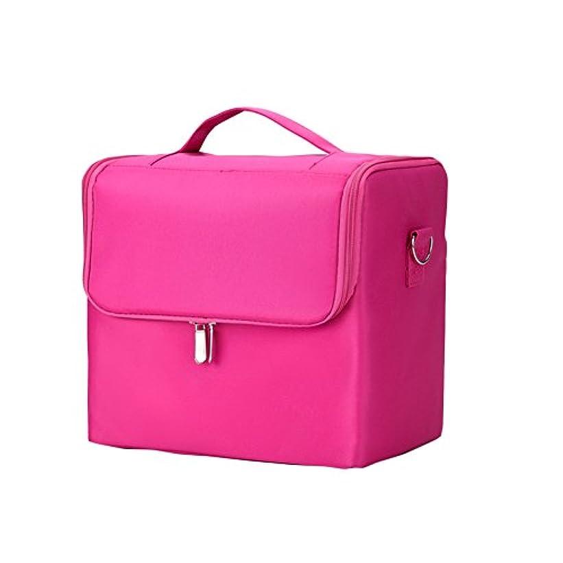 ネックレス代わりにを立てるインフルエンザSIRIN メイクボックス コスメボックス 大容量 化粧品収納ボックス 収納ケース 小物入れ 大容量 取っ手付 4段階 4色 (ピンク)