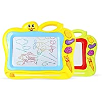 HuaQingPiJu-JP 描画ボード、消去可能なカラフルな落書き落書きボード魔法スケッチボードに描画する教育おもちゃ