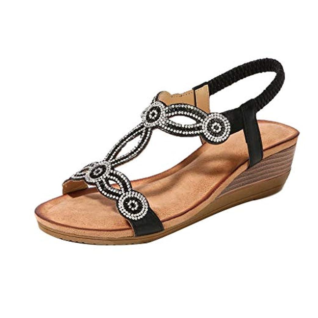 長いです持続的アメリカウェッジソール liqiuxiang レディ 格好いい 素敵 綺麗 ハイヒール レディース 女性 滑り止め レトロ 鮮やか チャーム 作業靴 魅せる 花柄 人気 キラキラ サンダル