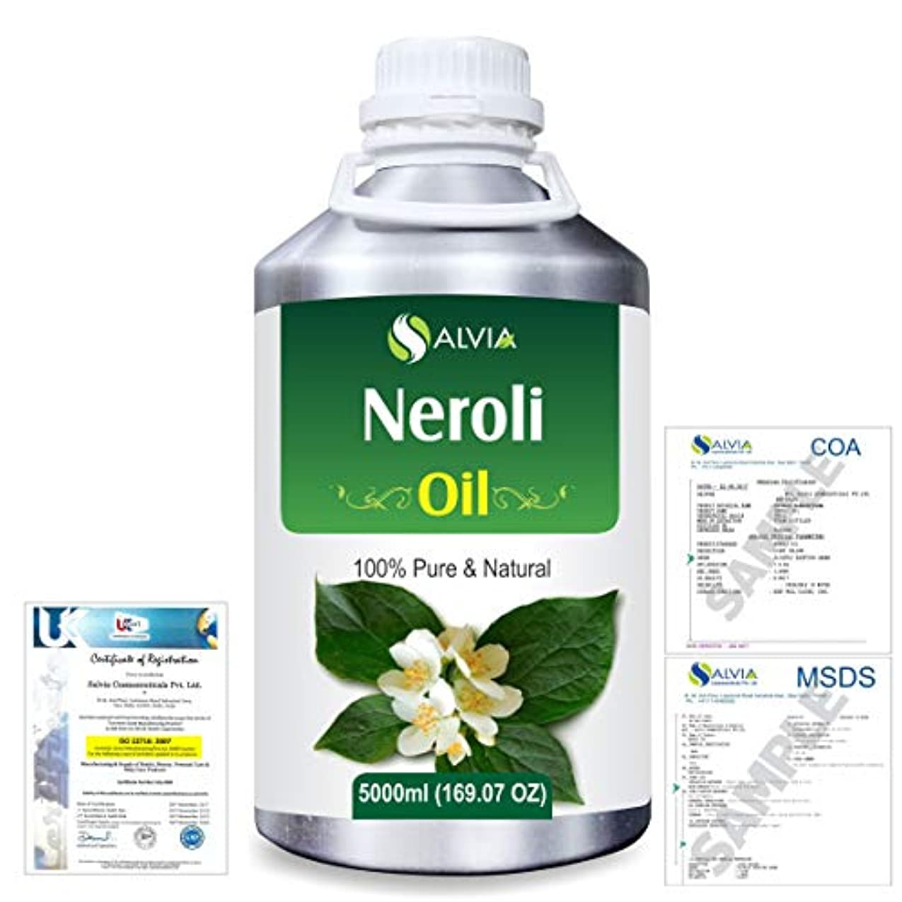 観点戸惑う吸収Neroli (Citrus Aurantium) 100% Natural Pure Essential Oil 5000ml/169fl.oz.