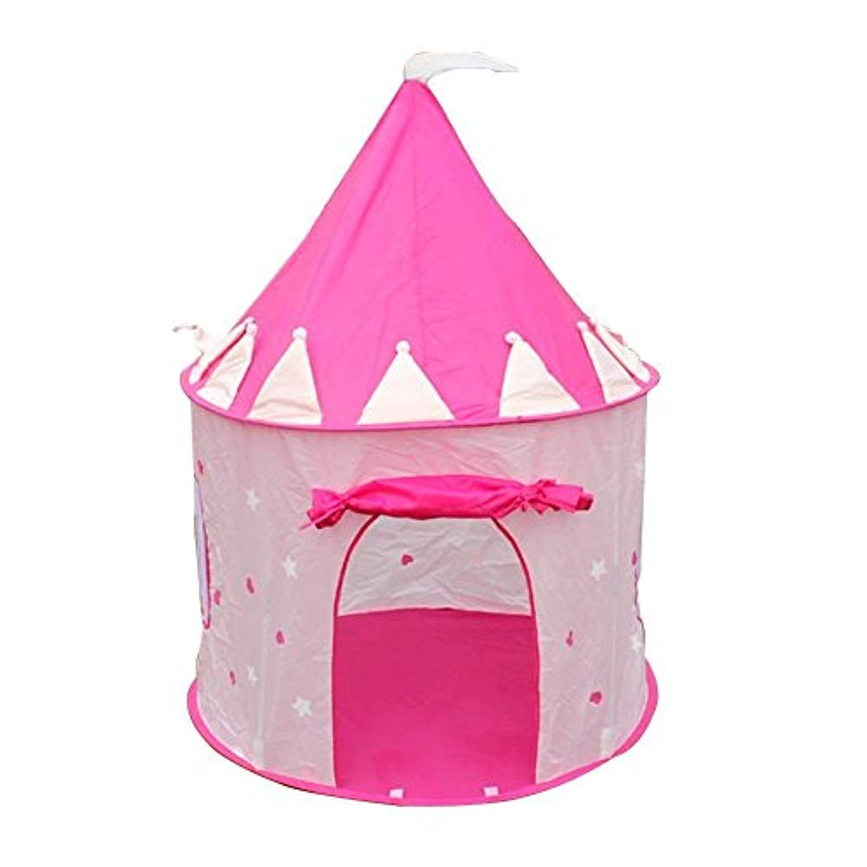 Luquan Play Tent – ポータブルピンクPop Up Play Tent KidsガールズプリンセスCastleアウトドア家