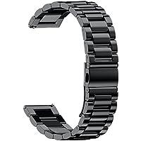 NotoCity 20mm 腕時計バンド ステンレス 腕時計ストラップ 交換ベルト対応 Samsung Gear S2 classic SM-R7320 watch,Pebble time round watch,Samsung gear sport watch,Moto 360 2 42mm Men