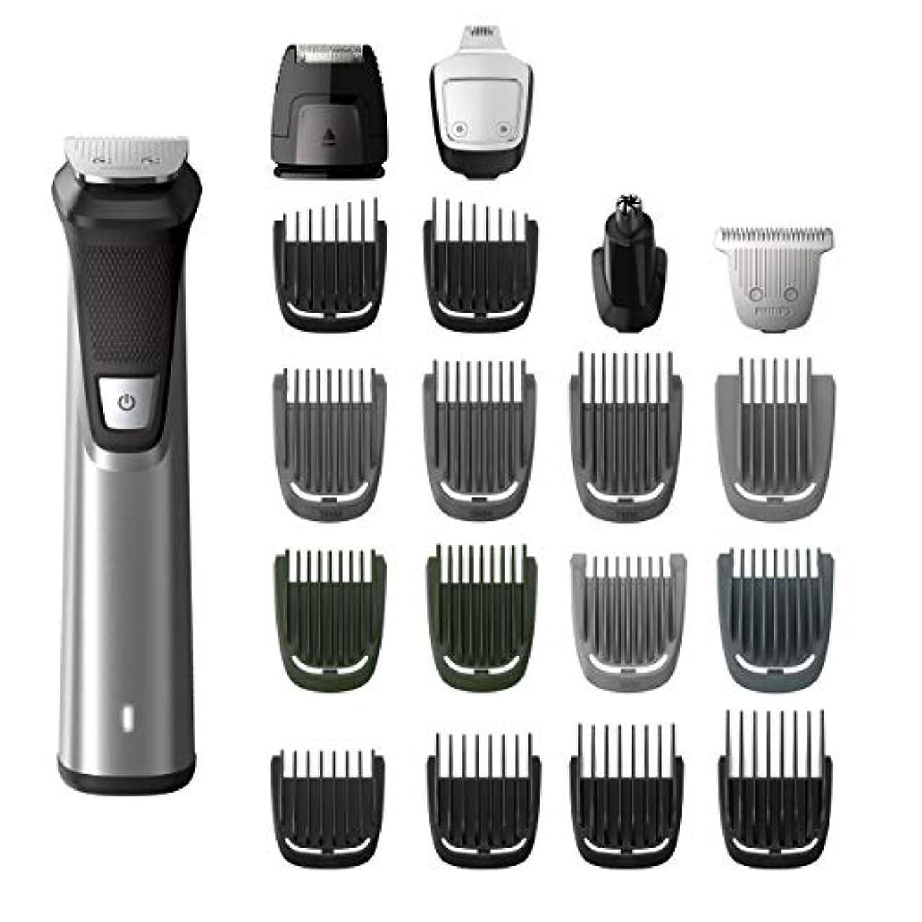 野ウサギ継続中取り消すPhilips Norelco MG7750/49 Multigroom 7000 Face Styler and Grooming Kit, 23 Trimming Pieces, DualCut Technology...
