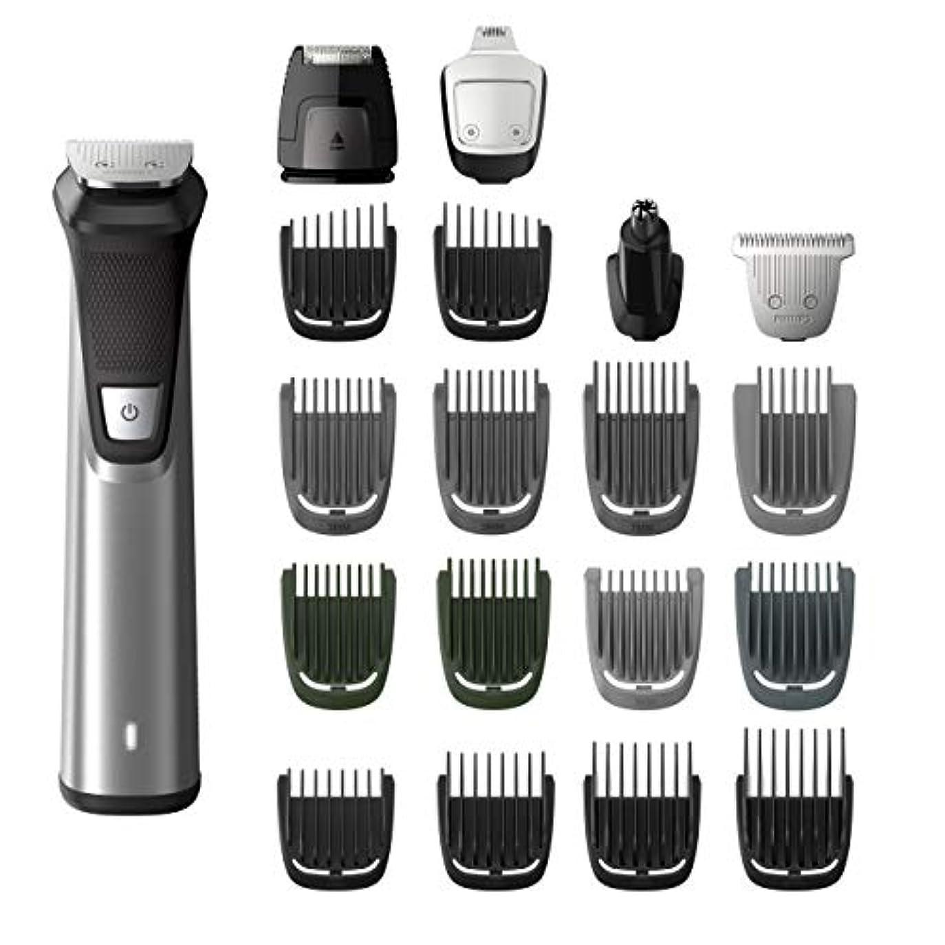 病院波紋軍艦Philips Norelco MG7750/49 Multigroom 7000 Face Styler and Grooming Kit, 23 Trimming Pieces, DualCut Technology...