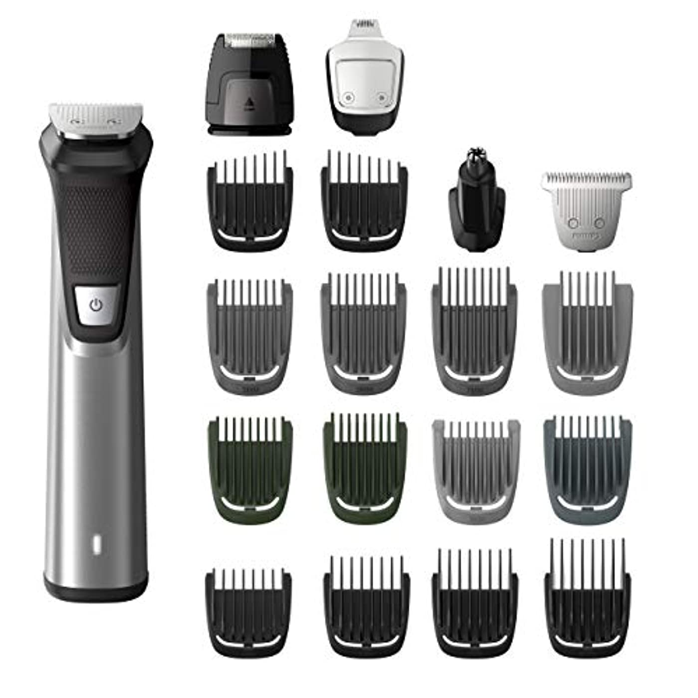 振る舞い変形する尾Philips Norelco MG7750/49 Multigroom 7000 Face Styler and Grooming Kit, 23 Trimming Pieces, DualCut Technology...