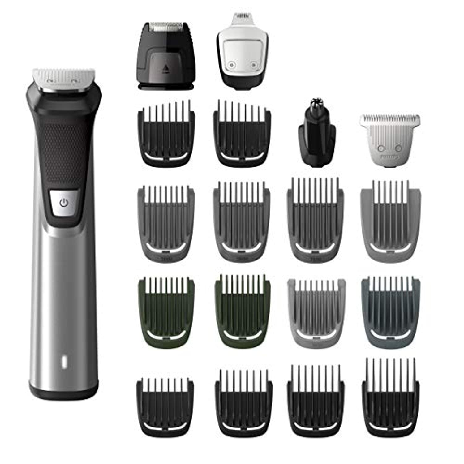 Philips Norelco MG7750/49 Multigroom 7000 Face Styler and Grooming Kit, 23 Trimming Pieces, DualCut Technology...