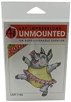 Art Impressions Dancing Pig Rubber Stamp [並行輸入品]