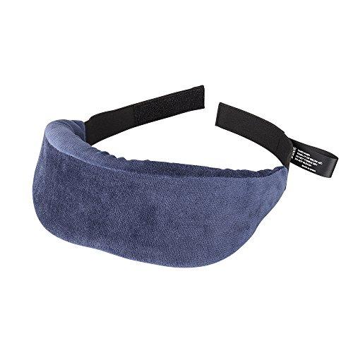 PLEMO 立体型睡眠アイマスク 超ソフト 優れる通気性 フィット感 快眠グッズ 男女兼用 睡眠補助 睡眠 旅行に最適 (ブルー) EM-481