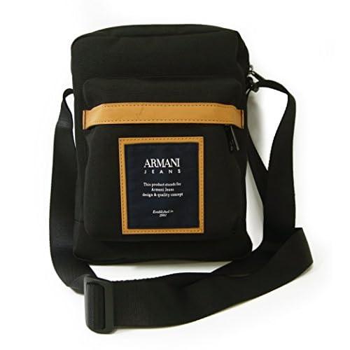 (アルマーニ) ジーンズ ショルダーバッグ メンズ リポーターバッグ 軽量 (ブラック) A-2505 [並行輸入品]