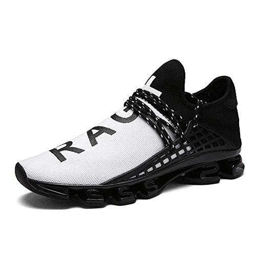 [ダント] ランニングシューズ メンズ レディース ジョギング クッション性 運動靴 カジュアル 通気性 ウォーキング 男女兼用(ホワイト,26.5)