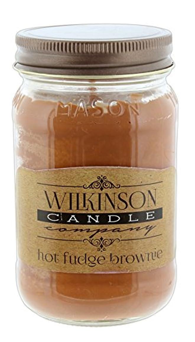 風宿題をする先ウィルキンソンCandle Co。Jam Jar soy-lotion Candle 16オンス ブラウン