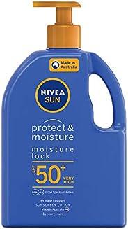 NIVEA SUN Protect & Moisturising 4 Hour Water Resistant Sunscreen Lotion. Made in Australia with Vitamin E