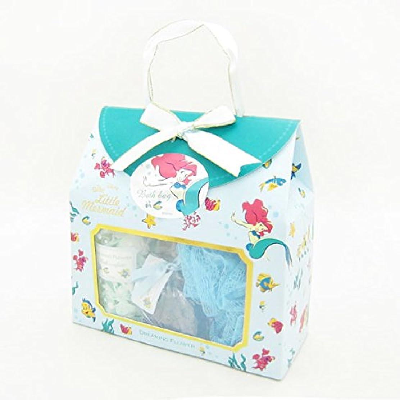 ベリールネッサンス石鹸ディズニーフレグランスコレクション バスバッグト5点セット アリエル ドリーミングフラワー(透明感のあるムスクの香り)
