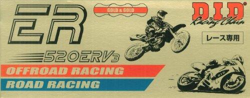 D.I.D(大同工業)バイク用チェーン カシメジョイント付属 520ERV3-110ZB G&G(ゴールド) X-リング 二輪 オートバイ用