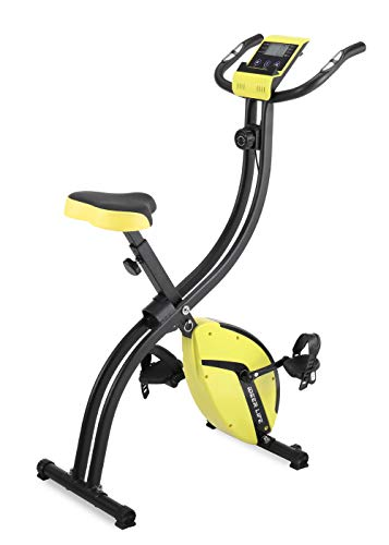 フィットネスバイク エクササイズバイク 心拍数測定 負荷調節 高機能デジタルメーター付き タブレットトレ...