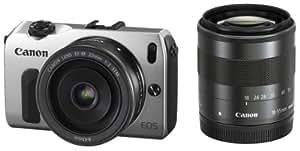 Canon ミラーレス一眼カメラ EOS M ダブルレンズキット EF-M18-55mm F3.5-5.6 IS STM/EF-M22mm F2 STM付属 シルバー EOSMSL-WLK