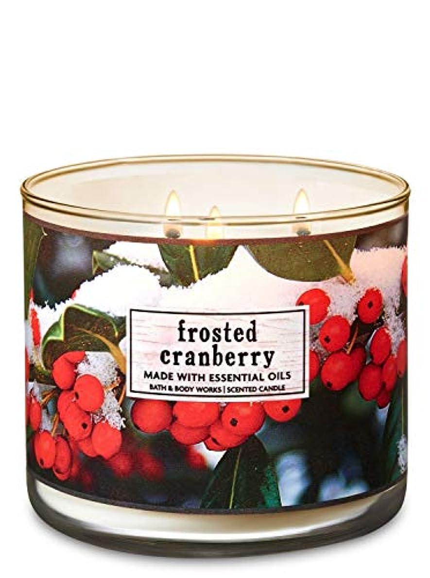 作物日曜日繊維【Bath&Body Works/バス&ボディワークス】 アロマキャンドル フロステッドクランベリー 3-Wick Scented Candle Frosted Cranberry 14.5oz/411g [並行輸入品]