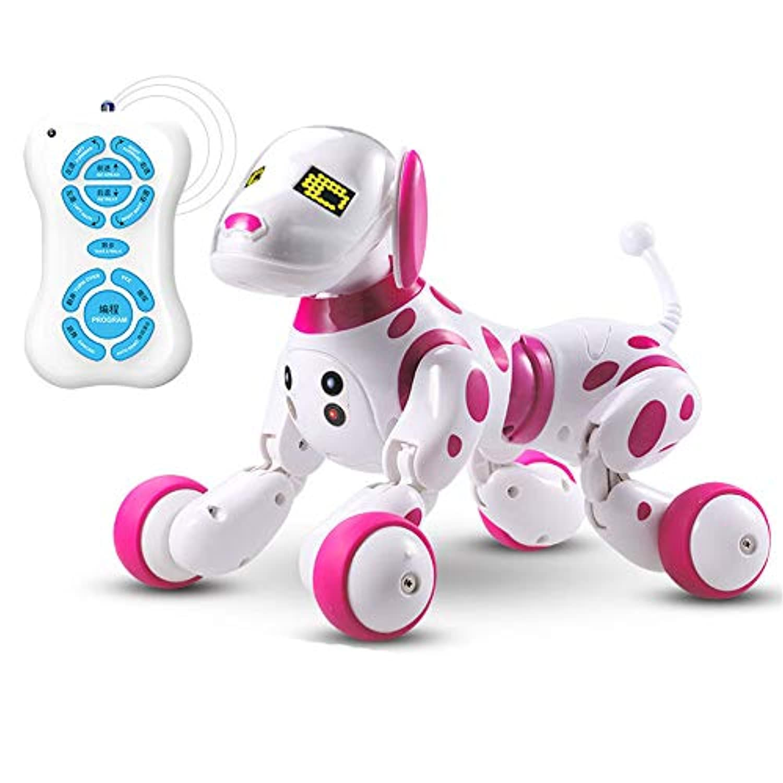 ベビーおもちゃ、子供の教育玩具、脳を発達させる 機械犬Intellisenseおもちゃ幼児教育の親子の相互作用ペットの子供の対話 (色 : ピンク)