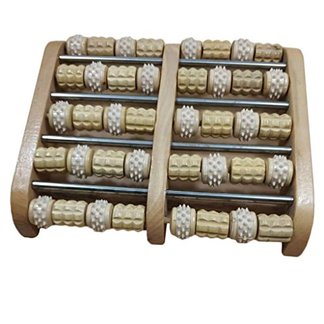 歯科の九分類するデュアルフットマッサージローラー 家庭用 サロン用 フットマッサージ 木製 高品質