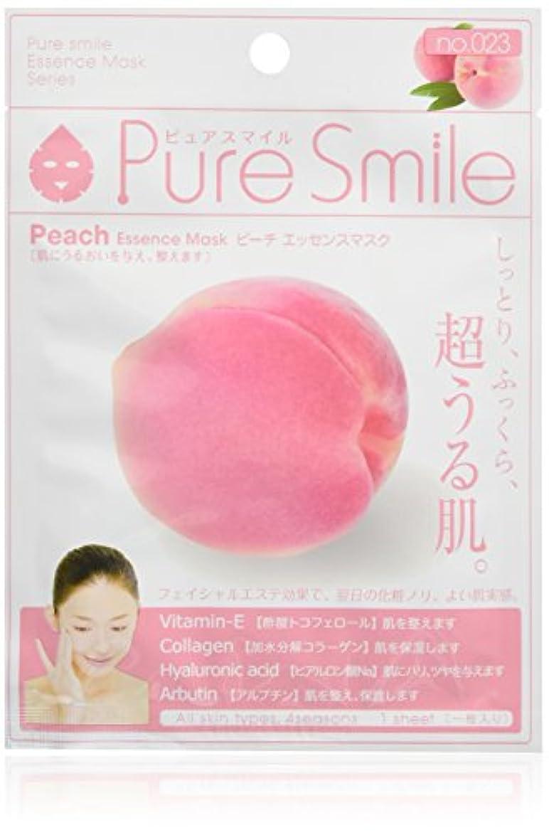 ムス司書ハリケーンPure Smile ピュアスマイル エッセンスマスク ピーチ 6枚セット