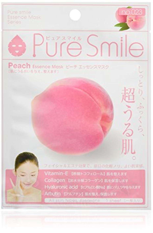 照らす放射能副産物Pure Smile ピュアスマイル エッセンスマスク ピーチ 6枚セット