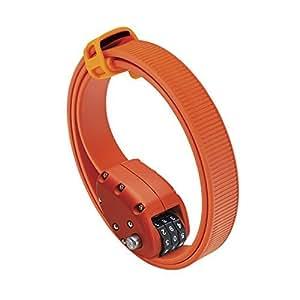 オットロック Cinch Lock 45cm 1本 ステンレスバンド ケブラーカバー ダイヤルロック オレンジ(202046)