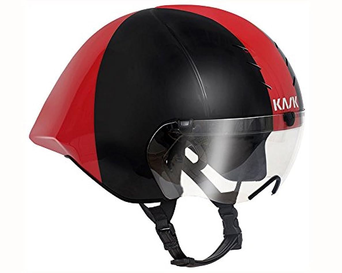 局密度以降KASK(カスク) MISTRAL(ミストラル) ブラック/レッド TTヘルメット