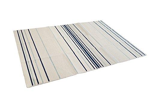 スミノエ ラグ・カーペット ブルー 130×185cm 洗える 国産 コットングラ
