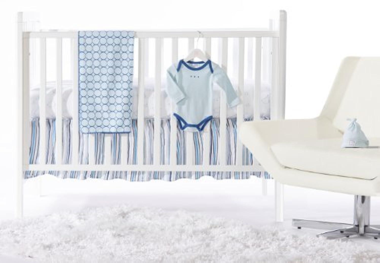 SwaddleDesigns 5 Piece Newborn Crib Bedding Set with Crib Skirt True Blue 0-3 months [並行輸入品]