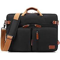 CoolBELL Convertible Backpack Messenger Bag Shoulder Bag Laptop Case Handbag Business Briefcase Multi-Functional Travel Rucksack Fits 15.6 Inch Laptop Men/Women (Black)