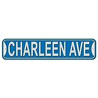 チャーリーン大通り - 青 - プラスチック壁符号