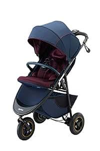 アップリカ 3輪ベビーカー Smooove Smart Brake AB スムーヴスマートブレーキAB (自動安心ブレーキ・新生児から使える) 別売トラベルシステム対応 ヘリンボーンローズ 1か月~ (1年保証) 2084492