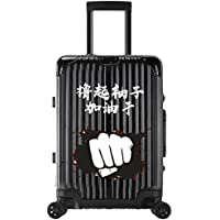 XY Trolley case - ABS/PC, TSA Customs Code Lock, Brushed Surface, Student Personality Aluminum Frame Travel Large Capacity Trolley case - 5 Pattern Color Optional Luggage Sets