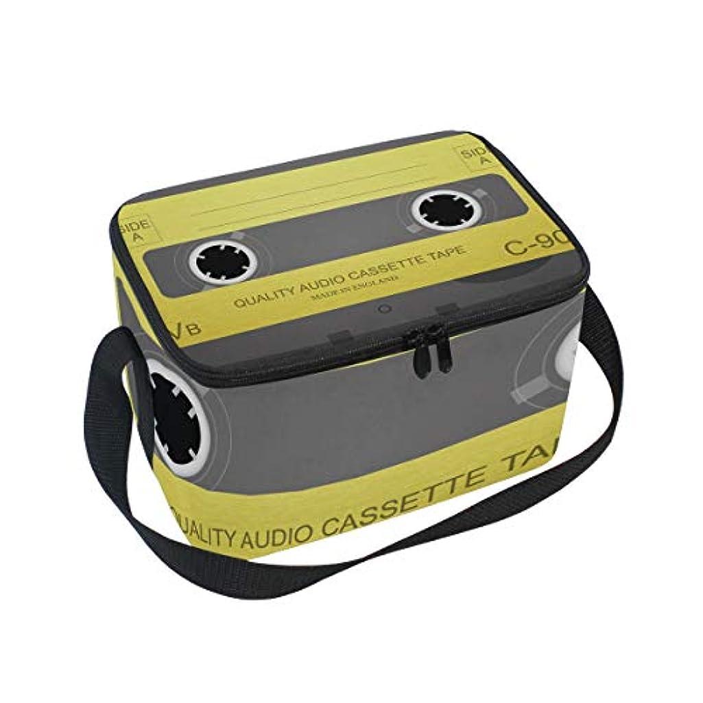 治療教育学コカインクーラーバッグ 弁当袋 録音 テープ 保温保冷 折りたたみ可 軽量 6L Tskyoo