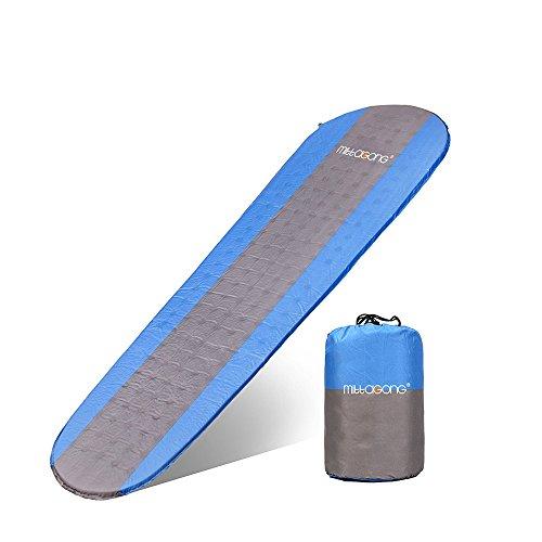 mittaGonG キャンピングマット インフレータブルマット 自動膨張式 エアーマット 収納袋付き ブルー