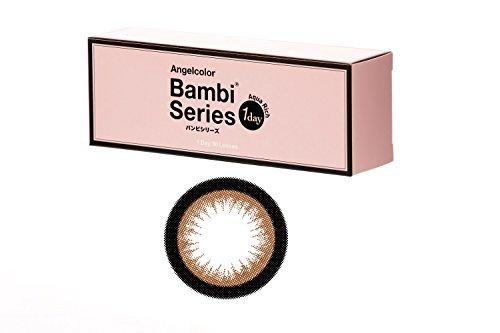 エンジェルカラー ワンデー バンビシリーズ 1箱10枚入り 14.2mm 【PWR】±0.00 アーモンド
