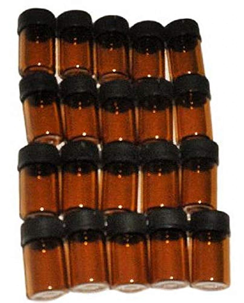 マンハッタン化学薬品認可【好縁店舗】 遮光瓶 アロマ 2ml 20本セット 保存容器 日を通さない瓶