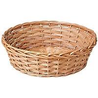 micia luxury(ミシアラグジュアリー) ニューボーンフォト 撮影小物 ベビーかご ベビーバスケット 直径53cm×高さ17cm 柳