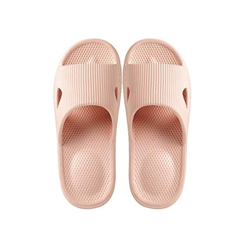 Corey Yon 超軽量 サンダル スリッパ おしゃれ 抗菌衛生 歩きやすい バスルームスリッパ 滑り止め 来客用 男女兼用 複数の色 (Color : Light pink, Size : 43/44)