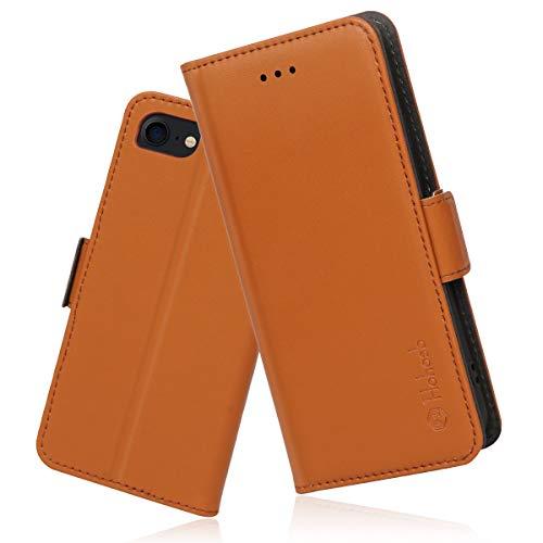 iPhone8 ケース 手帳型 iPhone7 iphone6s ケース 財布型 サイドマグネット式 カード収納 スタンド機能 高級PUレザー 耐衝撃 アイフォン6 6s 7 8 四機種対応 全面保護 耐摩擦 人気 おしゃれ Hohosb(iPhone6/6s/7/8用, オレンジ)